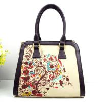 China Wholesale Chinese Style Printed Canvas Bags Lady Fabric Handbag on sale