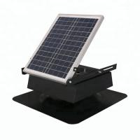 China Square Type Solar Powered Roof Fan , Solar Energy Roof Mounted Attic Exhaust Fans on sale