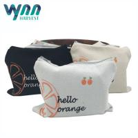 Recycling Coin Travel Cosmetic Bags With Zipper Cotton Canvas Material Manufactures