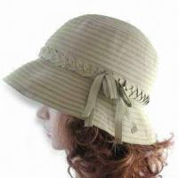 Women's Hat in Fashionable Design, Made of Cotton or Polyester, Measures 57cm Manufactures