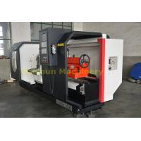 Flat Bed CNC Turning Machine , High Stability Computer Controlled Lathe Manufactures