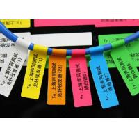 Strong Adhesive Plastic Cable Labels Vinyl Cable Tags With Electric Wire Label