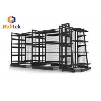 Heavy Duty Cold Rolled Steel Gondola Display Rack Grocery Store Shelf In Black Manufactures
