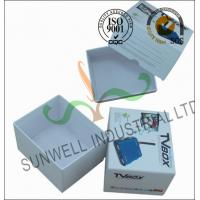 Corrugated Coated Paper Electronics TV Packaging Boxes White Color Matt Lamination Manufactures
