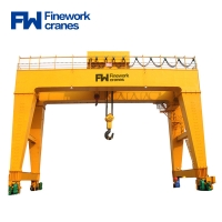 China 20ton 80ton Double Girder Gantry Crane With Lifiting Trolley on sale