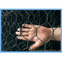ASTM A 975 PVC Coated Gabion Baskets Double Twisted Woven Mesh Fit Riverbank Manufactures