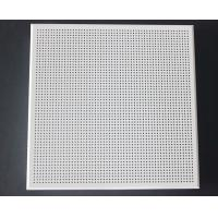Weather Resistant Acoustical Ceiling Tiles Aluminum / Galvanized Steel White Coated Manufactures