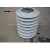 Porcelain Post Insulators With Steel Inserts , Bus Post Insulator Grey Color Manufactures