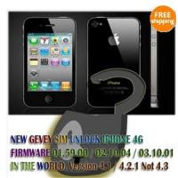 Free Shiping Wholesale Hot NEW GEVEY Unlock sim card for Iphone 4 4G Manufactures