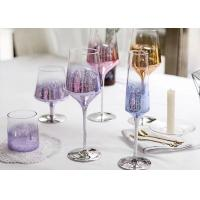 Colored Goblet Whiskey Glass Cups , Transparent Wine Glass For Party Manufactures