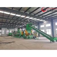 Durable Plastic Recycling Washing Plant , Washing PET Recycling Line 304 Stainless Steel Manufactures