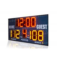 Easy Installation Basketball Portable Scoreboard , Basketball Score Clock With Brackets Manufactures
