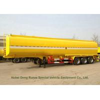 Carbon Steel 3 Axles Tank Semi Trailer For Diesel , Oil , Gasoline , Kerosene Transport Manufactures