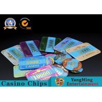 Marble Acrylic Crystal European Casino Poker Chips / Wear Resistance Casino Jetons Manufactures