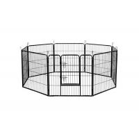 Black Silver Strong Metal Puppy Dog Play Pen Square Tube 1.5m Width Manufactures