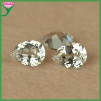 pear cut accessories 12# white corundum rough gemstones for jewelry wholesale china Manufactures