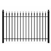 Fashionable Ornamental Iron Fence Parts Wrought Iron Components Powder Coated Manufactures