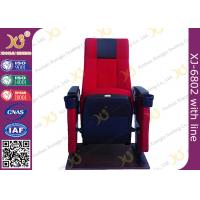 Steel Frame Powder Coating Folding Theater Seats / Cinema Folding Chair Manufactures