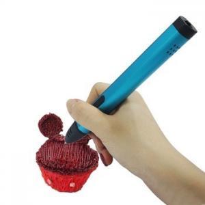 Speed Adjustable 3D Drawing Pen , Kid Dewang 3D Pen X4 Fancy Design Gold And Blue Manufactures