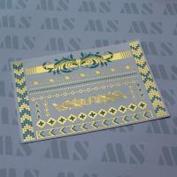Gold and turquoise TATTOO, Metallic temporary tattoo Manufactures