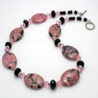 Fashion Gemstone Rhodonite Necklace Manufactures