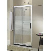 Matte Sliver Sliding Glass Shower Doors 8MM Nano Self - Cleaning With Stainless Steel Accessories Manufactures