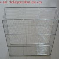 stainless steel wire mesh medical basket /medical instruments tray Manufactures