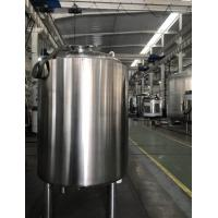 Single Layer Stainless Steel Storage Tank , Temporary Storage Tanks For Juice / Beverage Manufactures