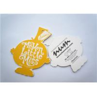 China Yellow Clothing Label Tags Recycled Paper Hang Tag For Necklaces on sale