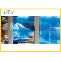 China Outdoor Window Glass Protection Film 50 Micron Thickness Blue Color SGS Certified on sale
