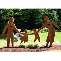 China Garden Art Decor Corten Steel Sculpture Family Parents and Children Playing on sale