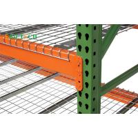 China Metal Teardrop Pallet Rack Uprights , Selective Pallet Racking Systems America & Europe Style on sale