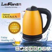 China 1.7L capacity stainless steel cordless electric kettle on sale
