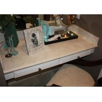 Dresser Table Artificial Stone Tops / Marble Bathroom Vanity Countertops For Sale  Manufactures