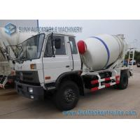 5000 Liters Dongfeng 153 Transit Mixer Truck With White And Blue Stripe Drum Manufactures
