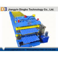China 380V 50Hz Steel Tile Forming Machine with Compture Control System / Cr12mov Blade on sale