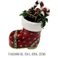 Colorful Glossy metal Craft Christmas Jewelry Box Manufactures