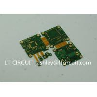 ENIG Plating Rigid Flexible Printed Circuit Board Green Solder Mask 6 Layer Manufactures
