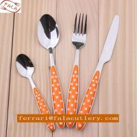 Fashionable Design Polka Dot Colorful Plastic Handle Cutlery Manufactures