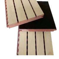 Polyester Fiber Wooden Sound Absorption Wall Panel / Acoustic Sheets Soundproofing Manufactures