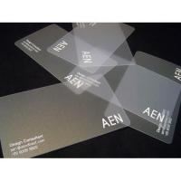 clear plastic business cards Manufactures