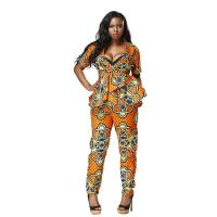 Mosaic Dashiki African Print Jumpsuit Styles 100 Percent Cotton Customized Size Manufactures