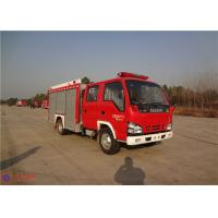 Red Painting Rear Mount Pump Fire Truck , MSB Manual Gearbox Industrial Fire Truck Manufactures