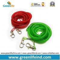 Hot Selling Red Green Long Fishing Spring Coiled Lanyard Tether Manufactures