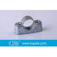 BS31 / BS4568 Conduit Fittings 20mm Malleable Iron Heavy Duty Distance Saddle With Base Manufactures