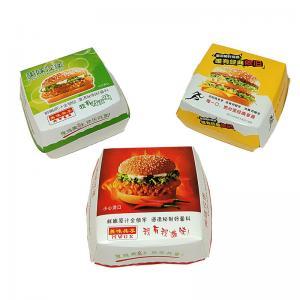 250Gsm White Cardboard Paper Packaging Box , Burger Packaging Box UV Coating Manufactures