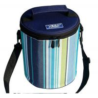 Cylindric Insulated Cooler Bags , Portable Wine Cooler Bag Top Round Zipper Manufactures
