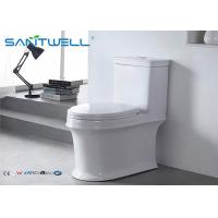 Floor mounted siphonic dual flush toilet modern sanitary 730*390*725 mm Size Manufactures