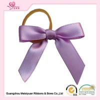 Quality 7 * 7cm In All Colors Elastic Ribbons Bows / ribbon elastic hair ties 100% Polyester for sale