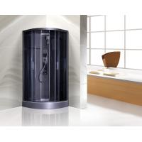 Dark Grey Profiles Quadrant Shower Cubicles , Curved Corner Shower Units Manufactures